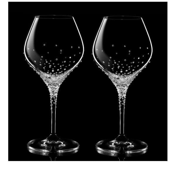 Zestaw 2 kieliszków do białego wina Nemesis ze Swarovski Elements