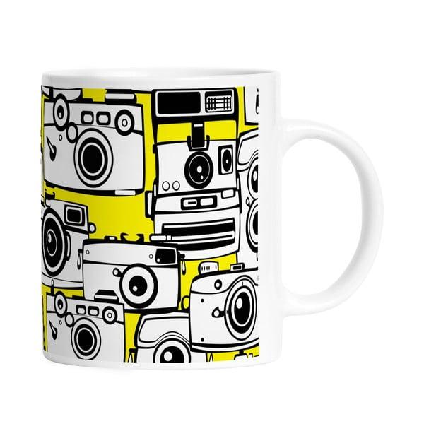 Kubek ceramiczny Yellow Cameras, 330 ml