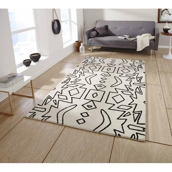 Dywan Spectrum White Black, 120x170 cm