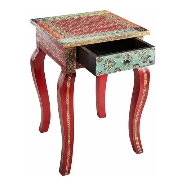 Czerwony stolik z drewna mangowca Støraa Vito