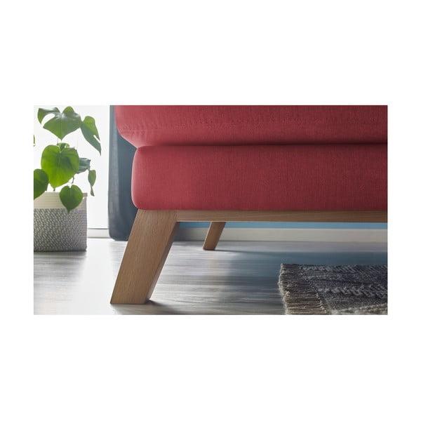 Czerwona sofa z szezlongiem po lewej stronie Bobochic Paris Seattle