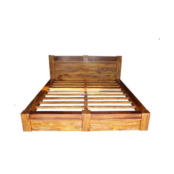 Łóżko z palisandru Indigodecor, 140x200 cm