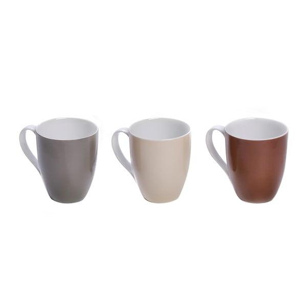 Zestaw 3 kubków porcelanowych Sola Lunasol Multi, 320 ml