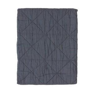 Szary pled bawełniany Södahl Triangle, 130x170 cm