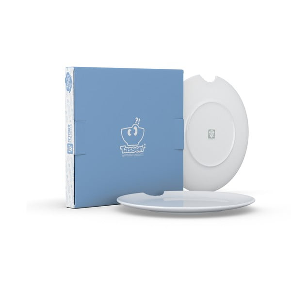 Zestaw 2 białych talerzy z porcelany 58products, ø 28 cm
