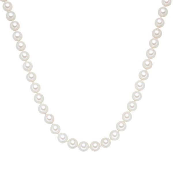 Perłowy naszyjnik Muschel, białe perły 10 mm, długość 60 cm