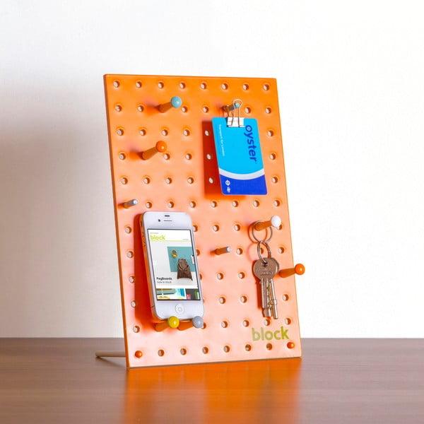Wielofunkcyjna tablica Pegboard 30x20 cm, pomarańczowa