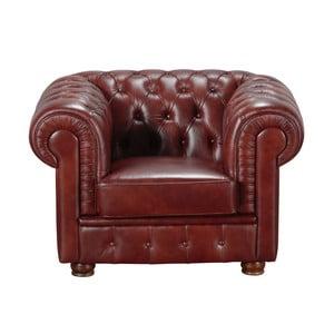 Bordowy fotel skórzany Max Winzer Bridgeport