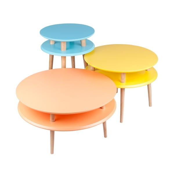 Jasnoturkusowy stolik Ragaba UFO, Ø 70 cm
