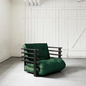 Fotel rozkładany Karup Funk Black/Botella