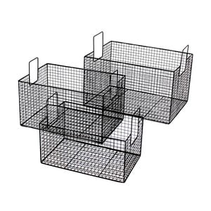 Metalowy koszyk Netz Black, 39 cm