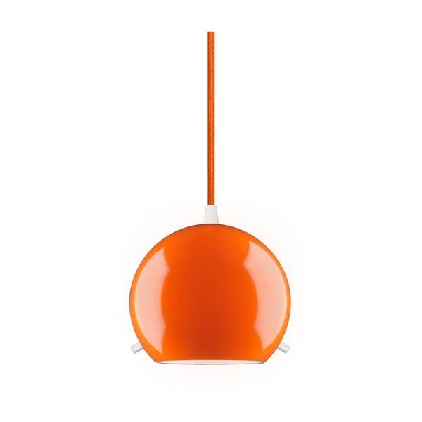 Pomarańczowa błyszcząca lampa wisząca Sotto Luce MYOO