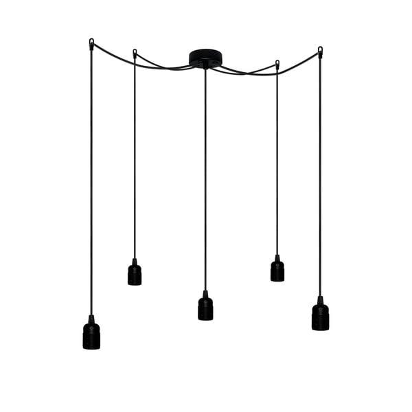 Pięć wiszących kabli Uno, czarny/czarny