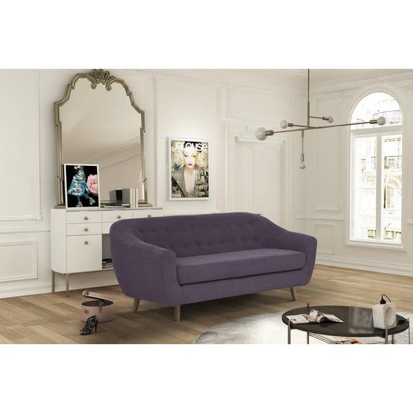 Ciemnofioletowa sofa trzyosobowa Jalouse Maison Vicky