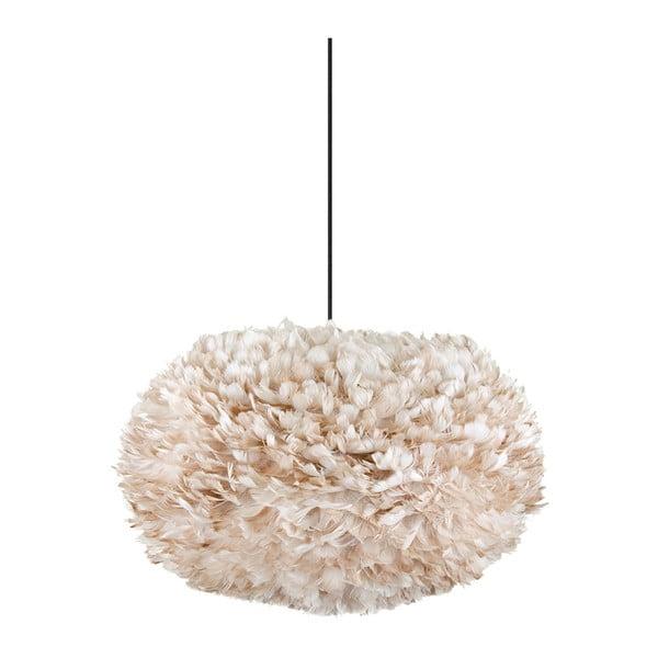 Kremowa lampa z gęsich piór EOS, Ø40cm