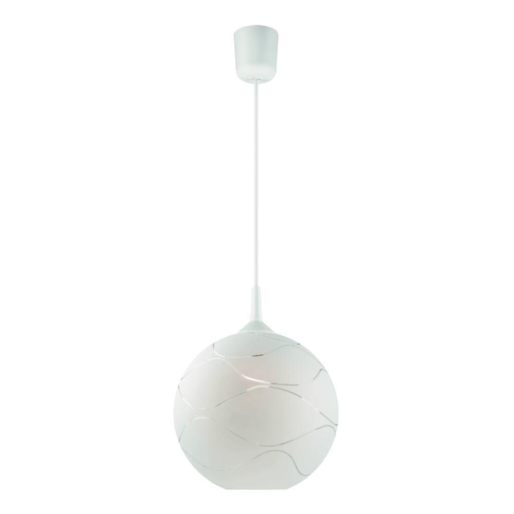 Biała okrągła lampa wisząca Lamkur Waves