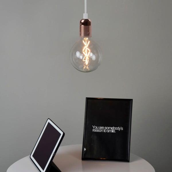 Biało-miedziana lampa wisząca Bulb Attack Uno