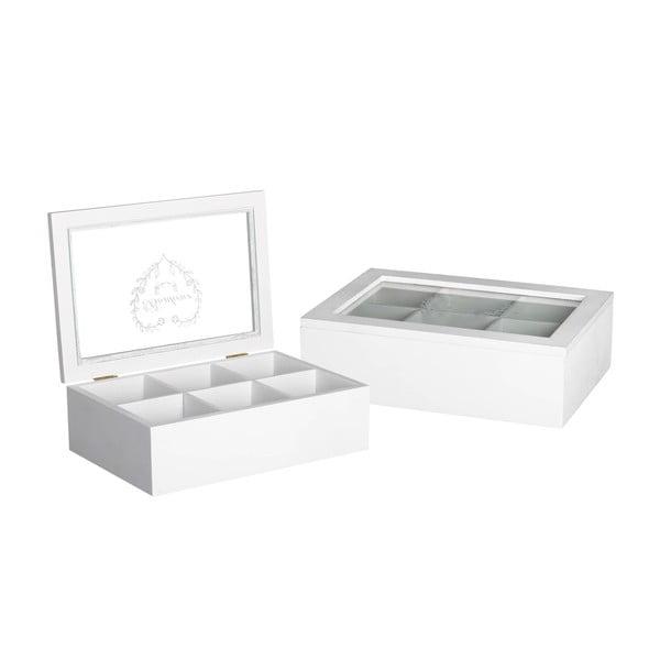 Pudełko z 6 przegródkami White Box