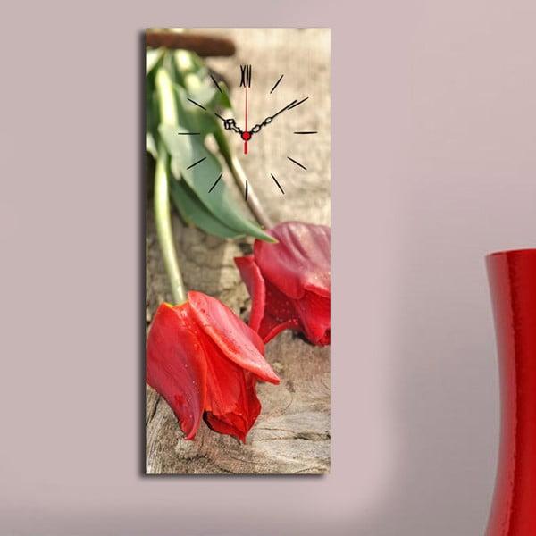 Obraz z zegarem Tulipany