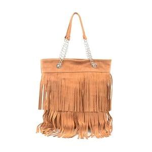 Skórzana torebka Marianne, kolor wielbłądzi