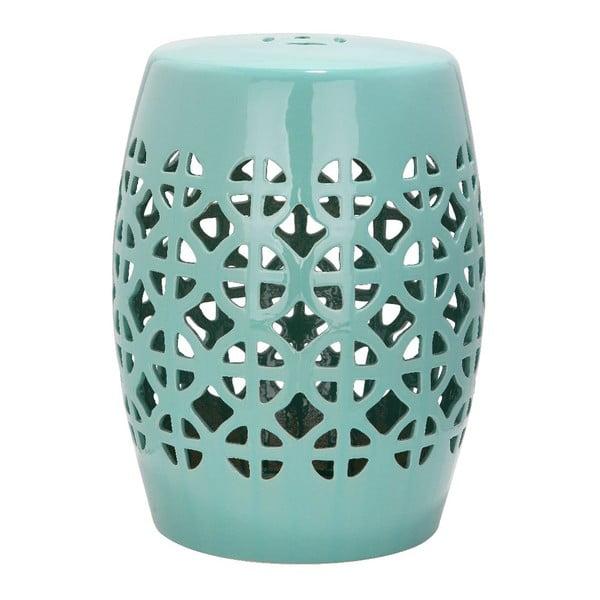 Turkusowy stolik ceramiczny safavieh Ravello