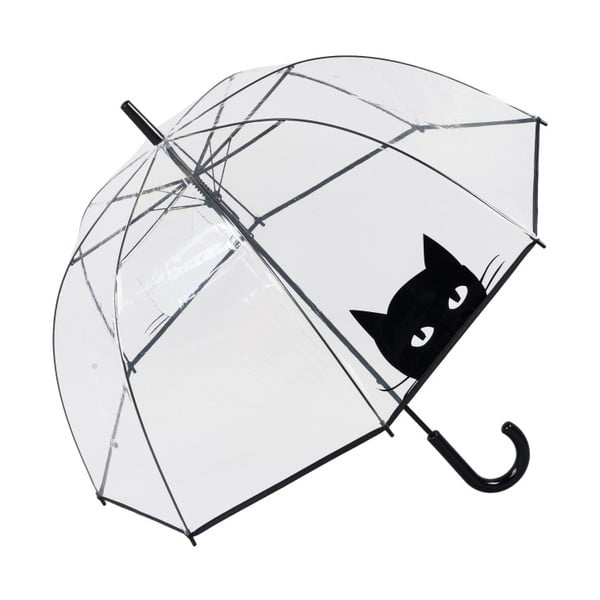 Przezroczysty parasol Ambiance Looking Cat, ⌀85cm