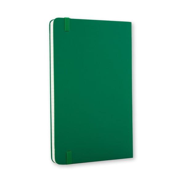 Notatnik Moleskine Hard 21x13 cm, zielony + strony w kratkę