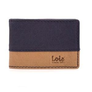 Skórzany portfel Lois Blue Block, 10x7 cm