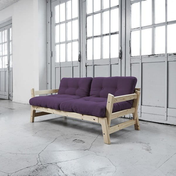 Sofa rozkładana Karup Step Natural/Purple