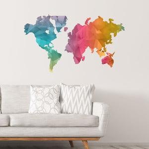 Naklejka mapa świata Ambiance Colour