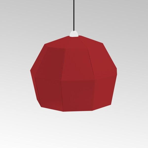 Kartonowa lampa Uno Fantasia A Red, z czarnym kablem