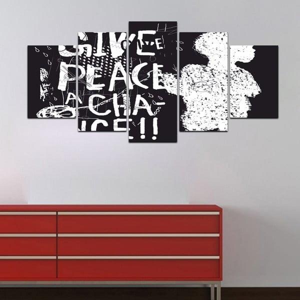 Wieloczęściowy obraz Black&White no. 49, 100x50 cm