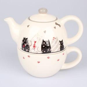 Ceramiczny komplet do herbaty Dakls Cats