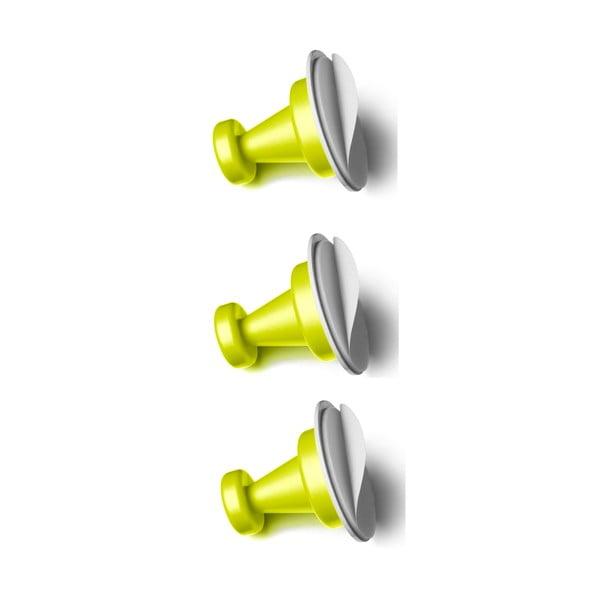 Zestaw 3 zielonych magnetycznych haczyków Reenbergs Multiple