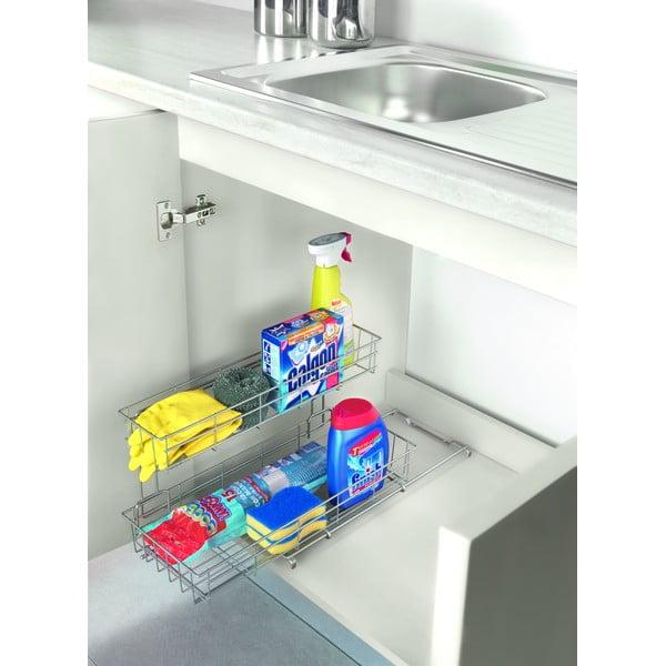 Dodatkowa 2-poziomowa półeczka kuchenna Metaltex Limpio