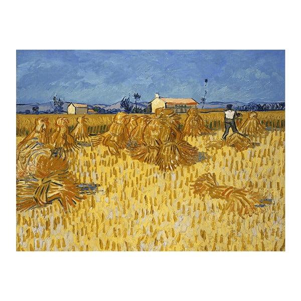 Obraz Vincenta van Gogha - Corn Harvest in Provence, 40x30 cm
