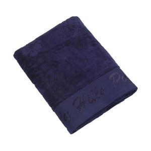 Ręcznik bawełniany BHPC Velvet 80x150 cm, granatowy