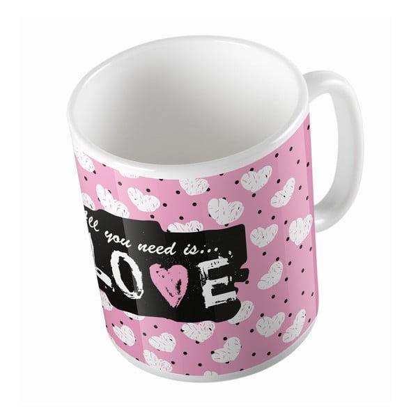 Kubek ceramiczny Love is Needed, 330 ml