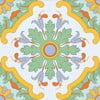 Naklejki Tile Art Yellow Ornament, 8 szt.