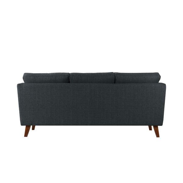 Antracytowa sofa trzyosobowa Jalouse Maison Elisa