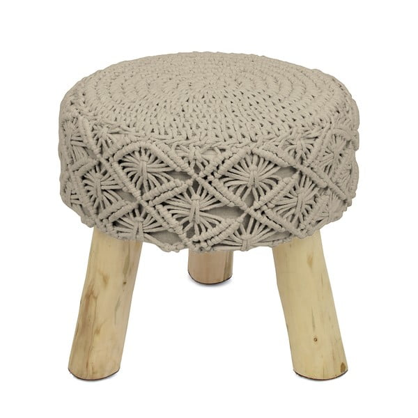 Beżowy taboret HF Living Tricot