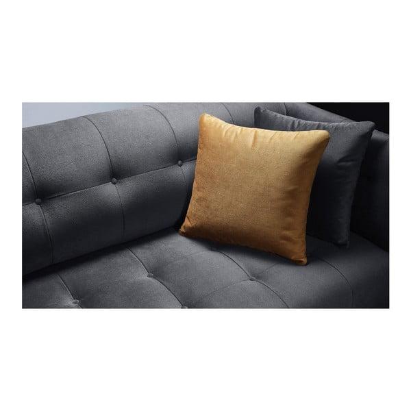 Ciemnoszara sofa 3-osobowa Bobochic Paris Paris