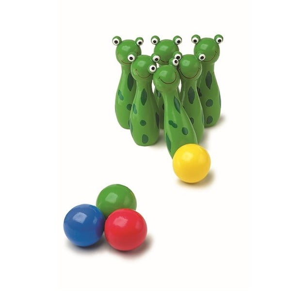 Drewniane kręgle Legler Frog