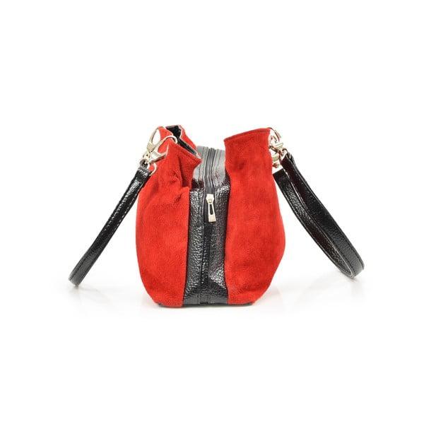 Skórzana torebka Giselle, czerwona