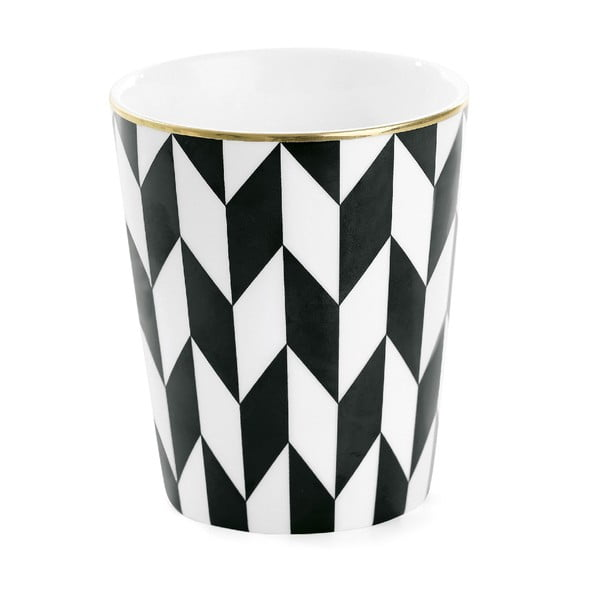 Kubek ceramiczny Zig Zag Black
