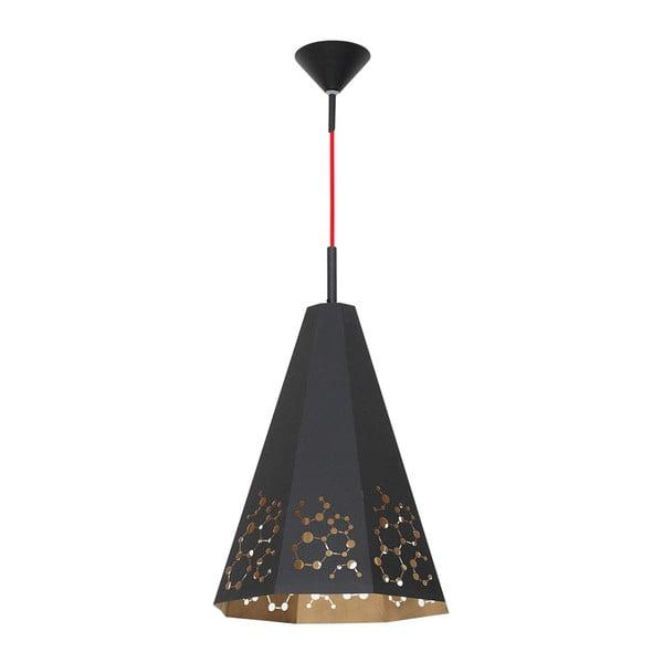 Czarna lampa wisząca Arietis
