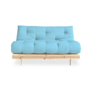 Sofa rozkładana Karup Design Roots Raw/Light Blue