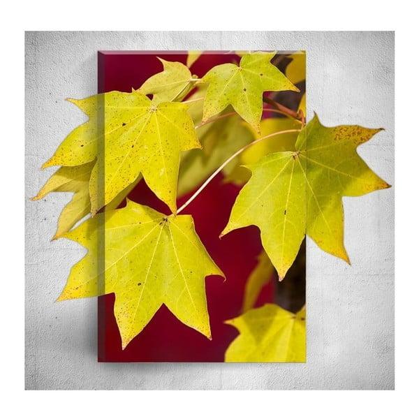 Obraz 3D Mosticx Yellow Autumn Leafes, 40x60 cm