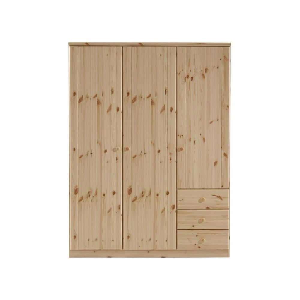 Brązowa szafa z drewna sosnowego Steens Ribe, 202x150,5 cm