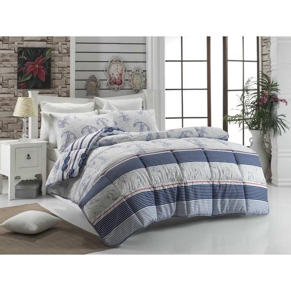 Pikowana narzuta na łóżko dwuosobowe Nia, 195x215 cm